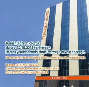 TURKİSH BANK LEVENT İŞ MERKEZİ